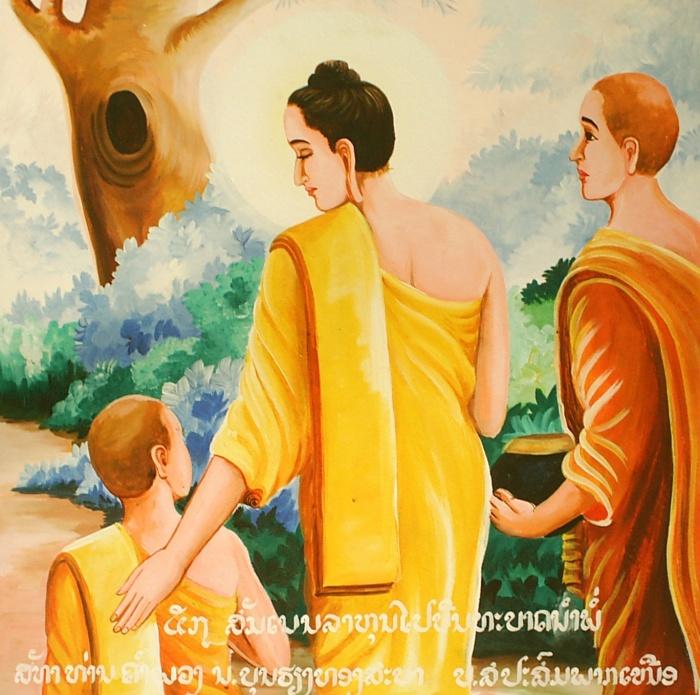 Đức Phật và Rahula (La Hầu La)