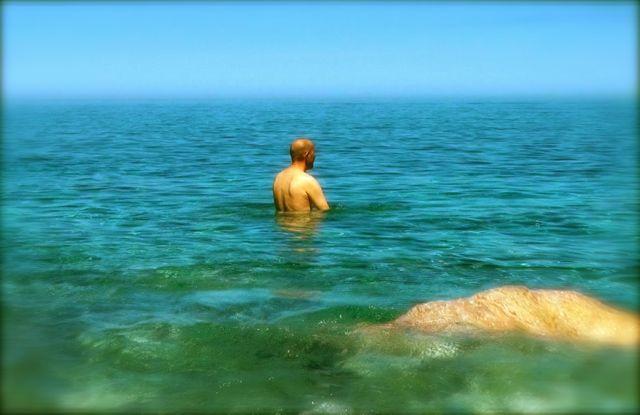 Chris in Med sea