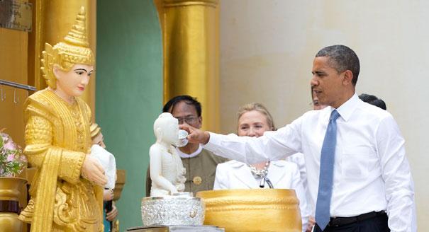 Obama visit Shwedagon Pagoda (5)